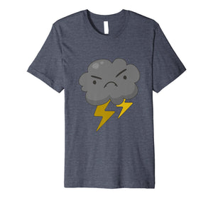 Angry Cloud with Lightning Thunderstorm Weather T-Shirt