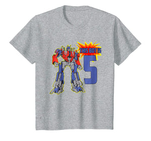 Kids Kids 5th Birthday Bot Robot T-Shirt for 5 Yr Old Boys Girls