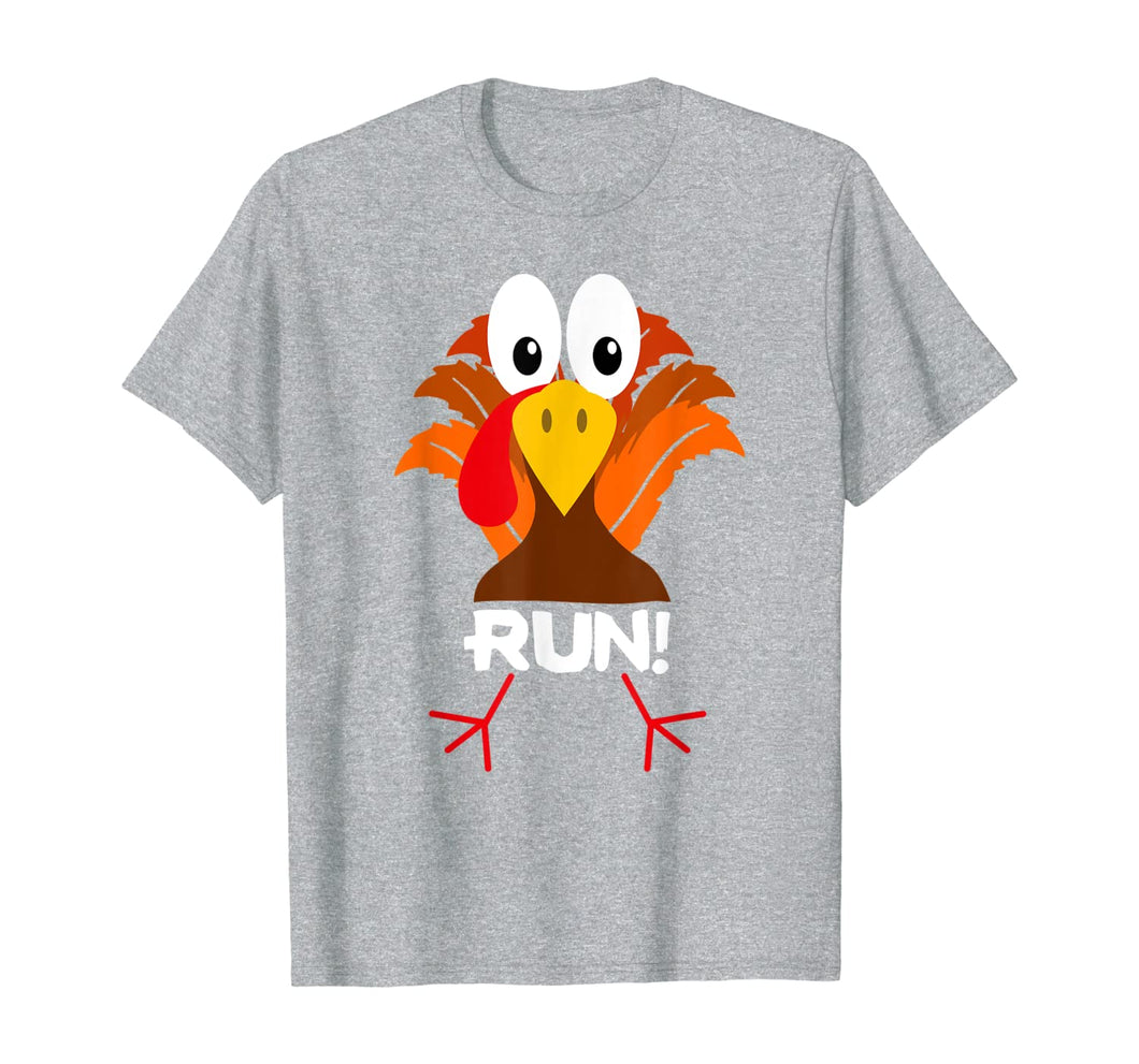 Turkey Costume Adult Running Face Turkey Trot T-Shirt