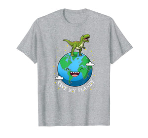 Happy Earth Day 2019 Dinosaur T-Rex Kids Boy Save My Planet  T-Shirt