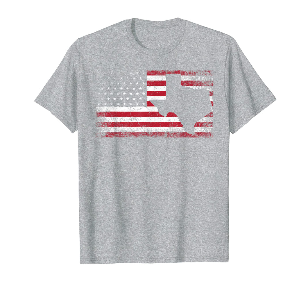 American Flag Texas 4th of July Vintage Gift Men Women Shirt