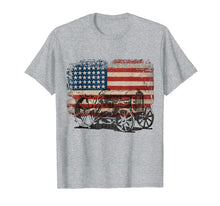 Load image into Gallery viewer, American Flag Farmer Shirt Vintage Patriotic Tractor T-Shirt