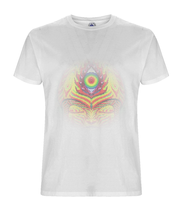 Orange Sunshine - White Organic T-shirt