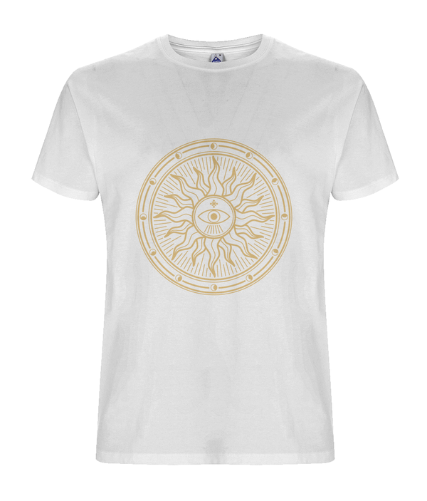 The Sun God - White Organic T-shirt
