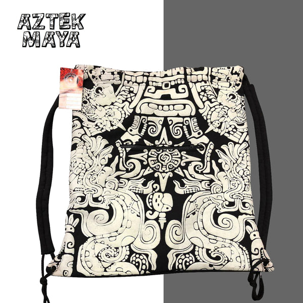 Glow in the dark sack bag - Aztek Maya