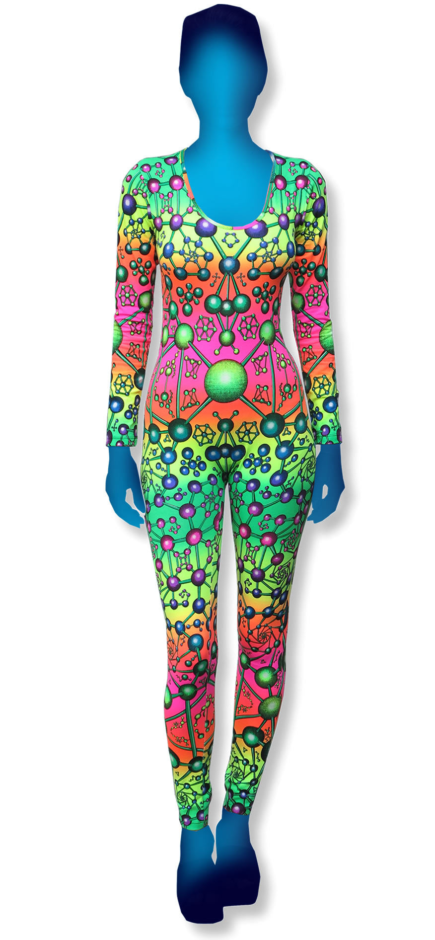 Long Sleeve Catsuit : Fractal / Atomic