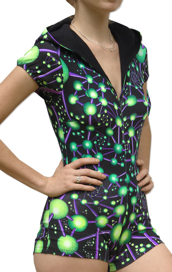 Hooded Playsuit : Atomic Alien
