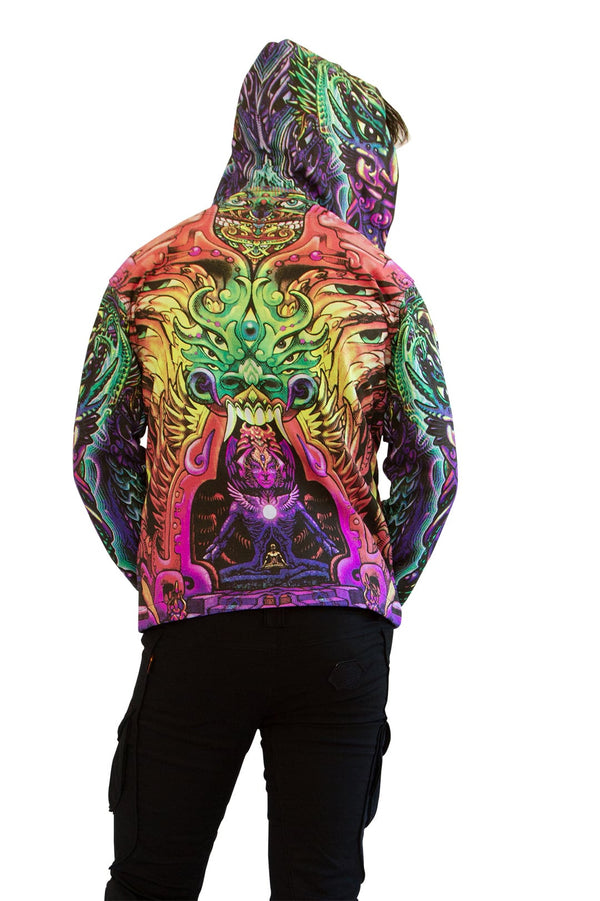 Hooded Zip Jacket Alpha Centauri Rainbow