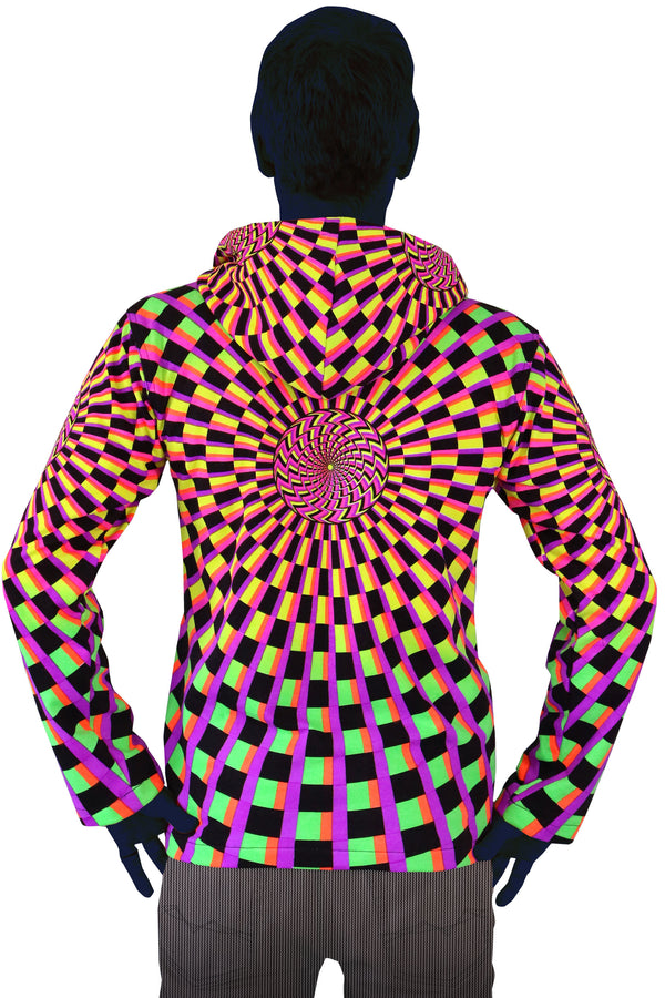 Hooded Zip Jacket : Rainbow Vertigo