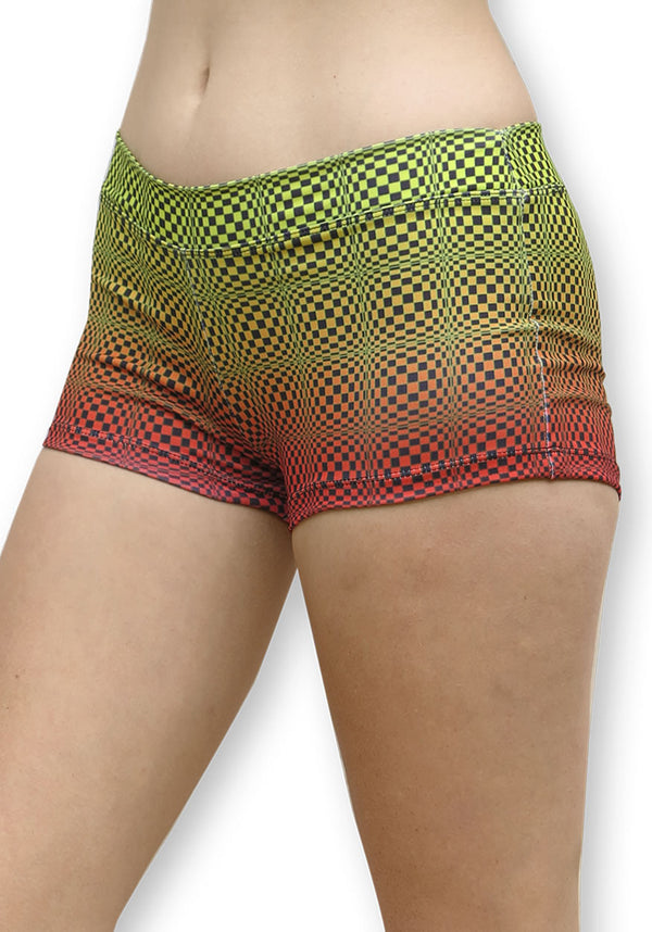 Sublime Hot Pants : Op-Art Wobbly Fire