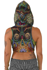Hooded Crop Top : Primordial Presence