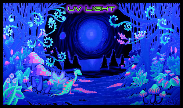UV Wallhanging : Space Jungle