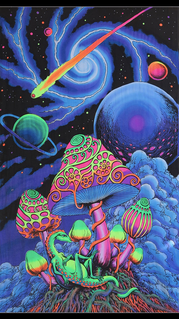 UV Wallhanging : Cosmic Shrooms