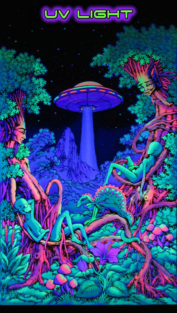 UV Wallhanging : UFO Jungle