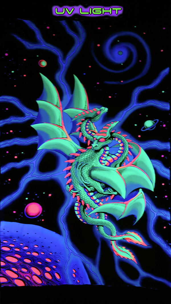 UV Wallhanging : Space Dragons
