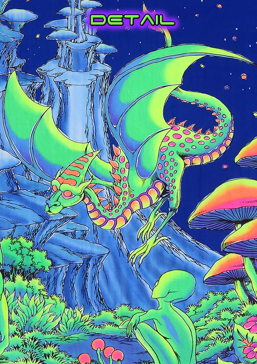 UV Wallhanging : Aliens and Dragons