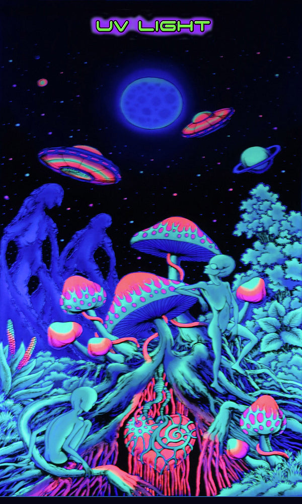UV Wallhanging : Alien Shrooms