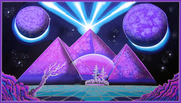 Giant UV Banner : Space Pyramid