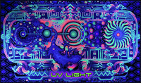 Giant UV Banner : Space Gecko