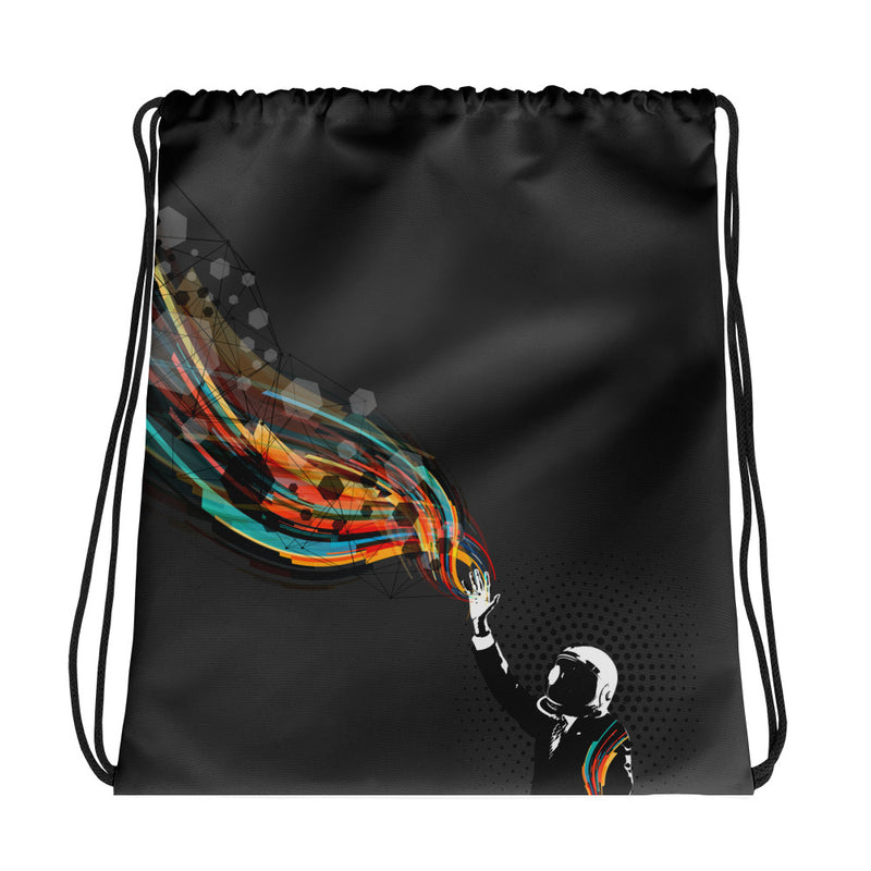 Waving Light Drawstring bag