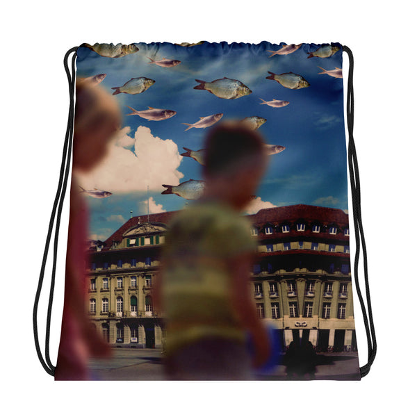 Blurry Days Drawstring bag