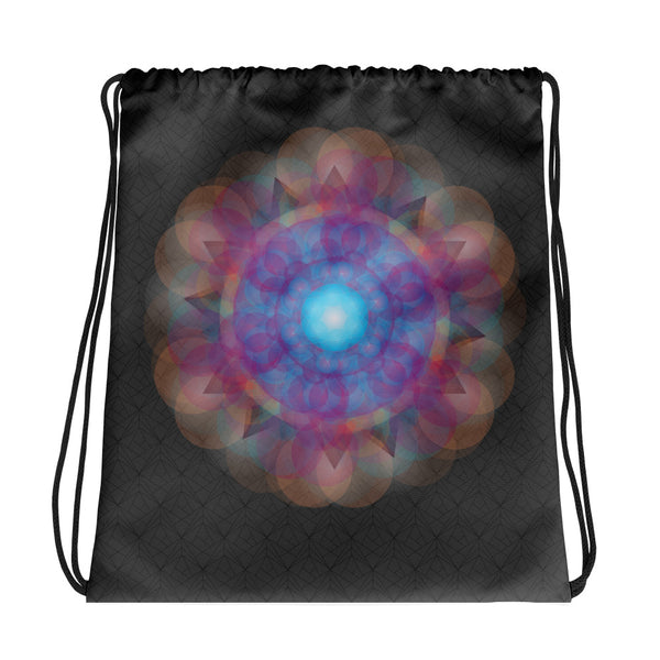 Purple Mandala Drawstring bag