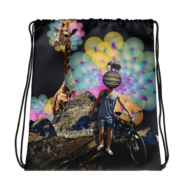 the World Drawstring bag