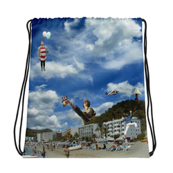 Shooting Balloons Drawstring bag