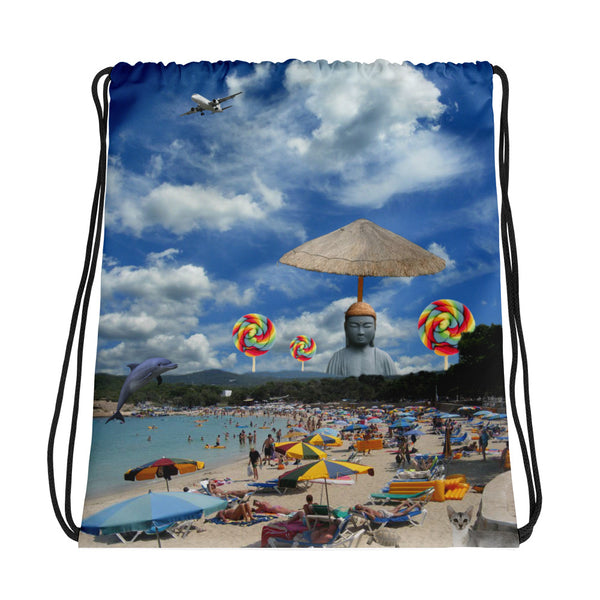 Buddha Beach Drawstring bag
