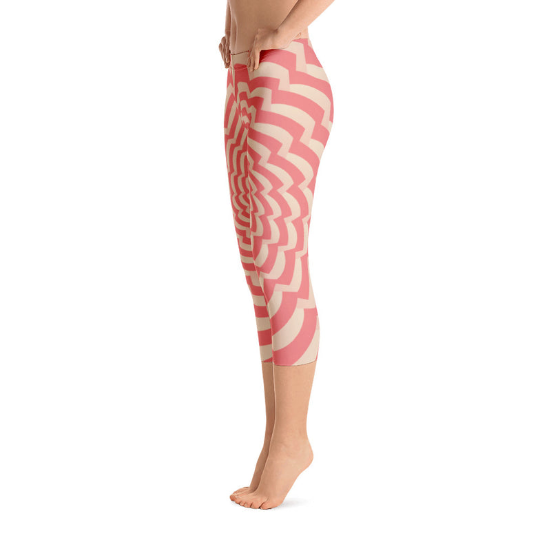 Pink Psy Capri Leggings
