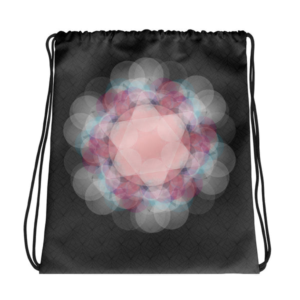 Pink Mandala Drawstring bag