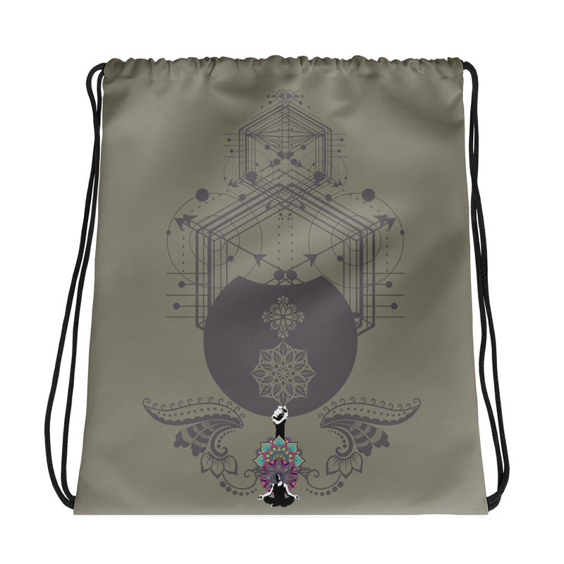 Sacred Geomatry Dream Drawstring bag