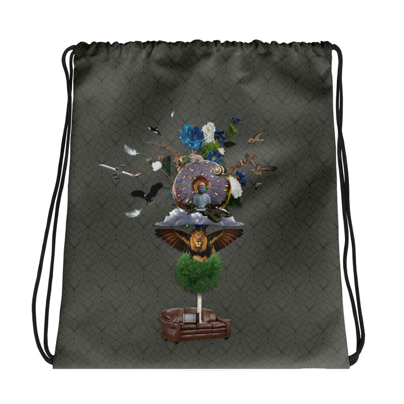 The Couch Conclusion Drawstring bag
