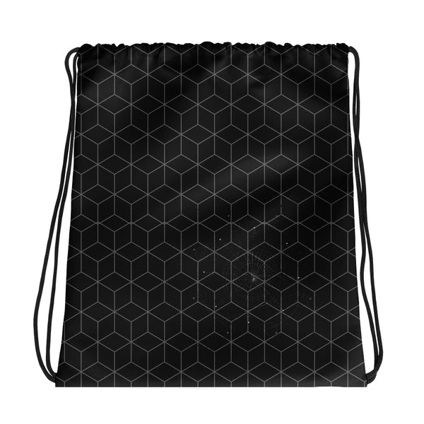 Hexagon HD Drawstring bag
