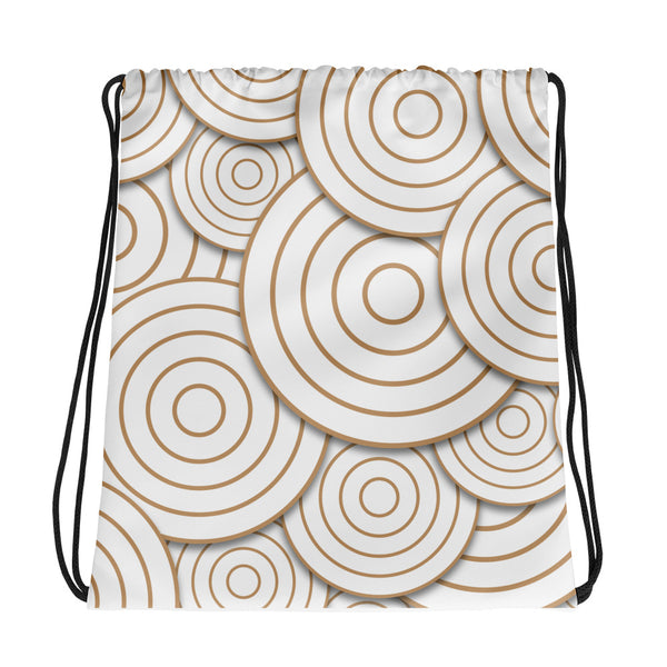 Going in Circles Drawstring bag