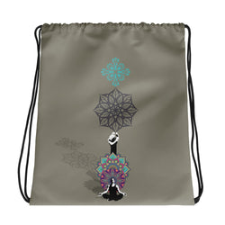 Meditate Drawstring bag