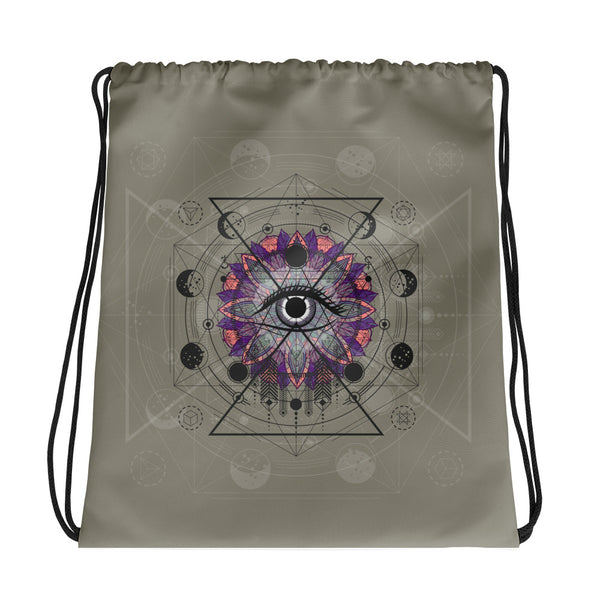 The Projecting Eye Drawstring bag