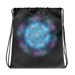 Blue Mandala Drawstring bag