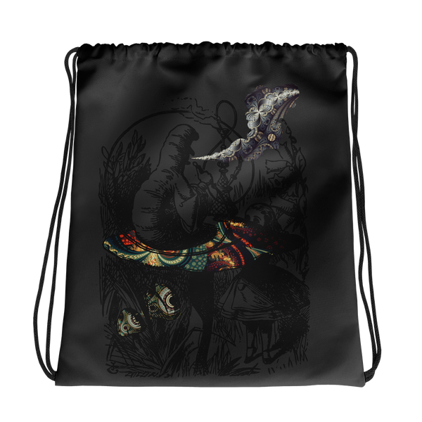 The smoking caterpillar  - Drawstring bag