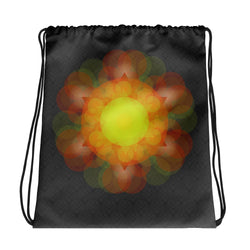 Yellow Mandala Drawstring bag