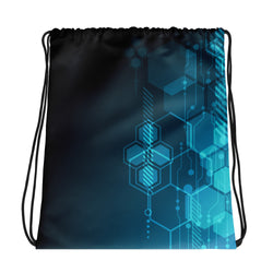 Hexagonal Movement Drawstring bag