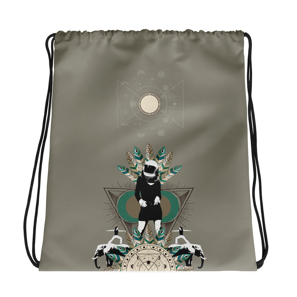 Exploring other Worlds Drawstring bag