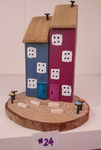 Mini wooden houses