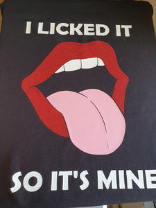 Licked it Red Glitter Lips