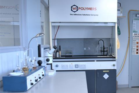 W.I. Polymers adhesives and hand sanitiser production laboratory in Dublin Ireland.