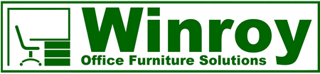 Winroy Office Furniture Solutions Ltd. green and white company logo