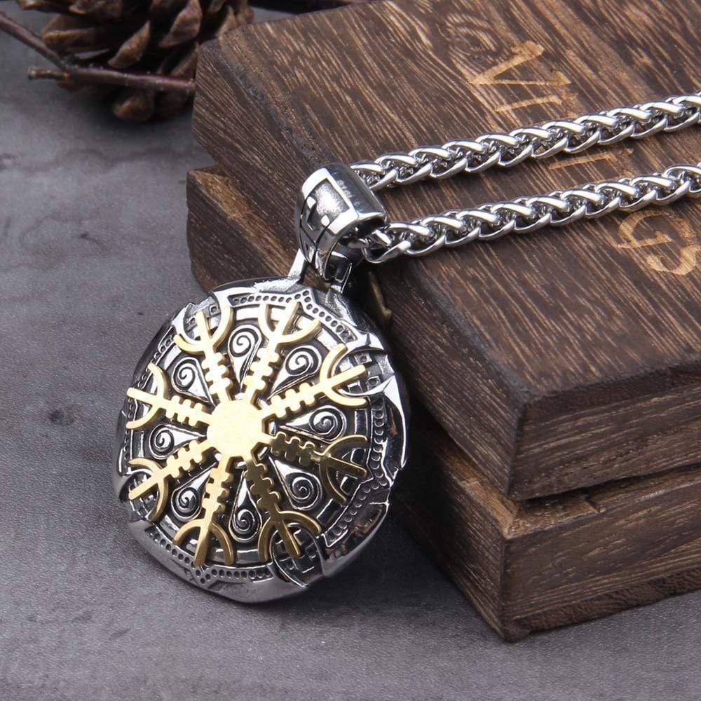 Collier Talisman de protection Viking - acier inoxydable - Odins Hall