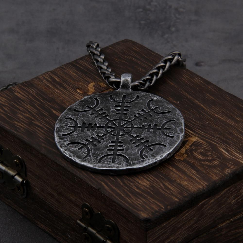 Collier Talisman runique viking en acier inoxydable - Odins Hall