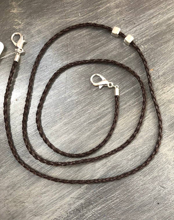 Brown Braided Lanyard