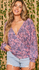 Britney Floral Printed Wrap Knit Top